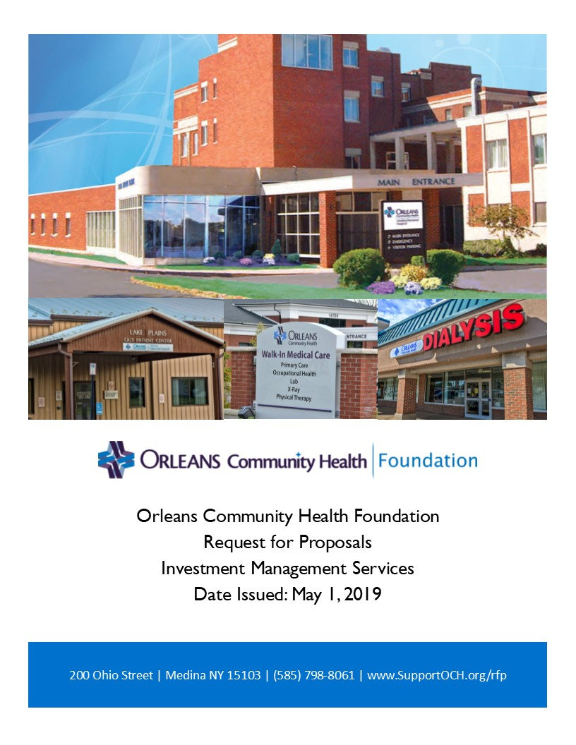 2019 RFP cover - Orleans Community Health Foundation